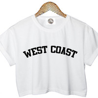WEST COAST crop top t shirt miley cyrus womens tank paris hipster fashion trendy swag retro vtg indie pop music band beyonce cara tumblr new