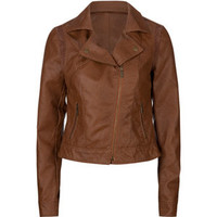 ASHLEY Perforated Faux Leather Womens Jacket 197342406   Jackets   Tillys.com
