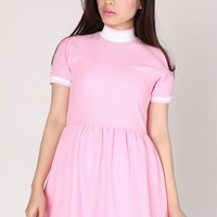 Pre Order - Babygirl Polo Dress in Baby Pink