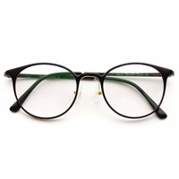 Aad Retro Thin Round Frame Non Prescription Glasses