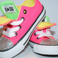 All Star Converse Bling Swarovski Shoes. Baby Girl/Boy Childrens. Sneakers Made with love.Bithday.