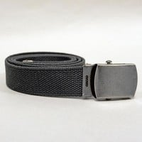 Dark Gray Cotton Web Military Belt
