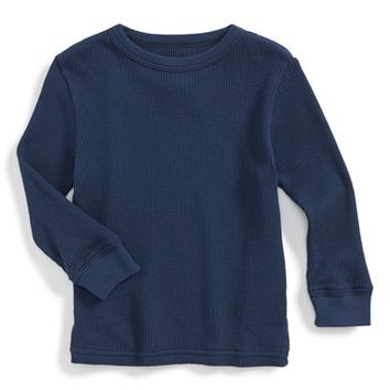 Infant Boy's Peek Long Sleeve Thermal Tee,