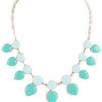 Mint & Turquoise Teardrop Necklace