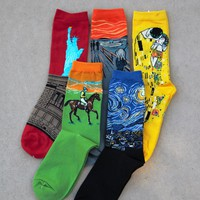 Ladies Famous Art Crew Socks - Art for your feet