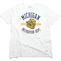 University of Michigan Recreation Department Slub T-Shirt White
