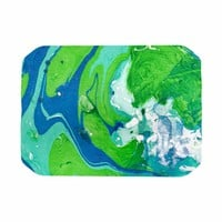 Rosie Brown Ocean Tides Blue Green Abstract Nautical Painting Place Mat