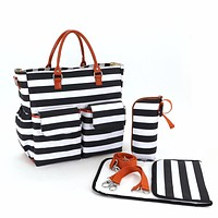 colorland fashion striped baby stroller mummy nursing changing diaper bag organizer maternity nappy bags travel mother handbag