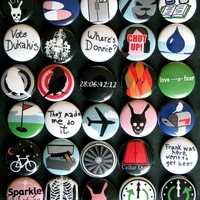 Donnie Darko Buttons or Magnets (set of 30) Don't be a fear prisoner. Buy this set.
