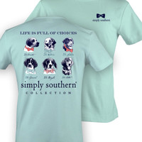 Simply Southern Dog Tee - Mint