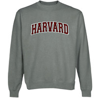 Harvard Crimson Arch Name Sweatshirt - Gunmetal