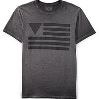 Guess Short-Sleeve Flag Tee - Jet Black