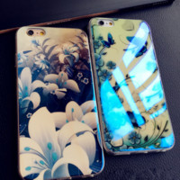 Stylish and elegant flowers Case Cover for Apple iPhone 5s 5 SE 6 6S 6 Plus 6S Plus LJ160831-001