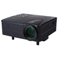 2017 Original Full HD Home Theater Cinema H80 LCD Image System 80 Lumens Mini LED Projector with AV/VGA/SD/USB/HDMI for DVD PC