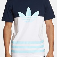 Men's adidas Originals 'Colorblock Trefoil' Graphic T-Shirt