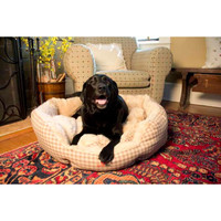 Iconic Pet - Luxury Napperz Bed - Beige - Small