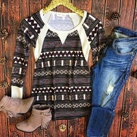 Cozy Tribal Thermal Top