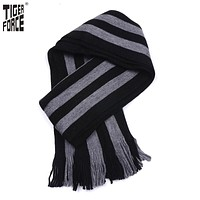 New Collection Men Fashion Scarf Winter Casual Long Striped Scarf Warm Winter Grey Scarf
