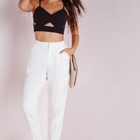 Missguided - Cigarette Pants White