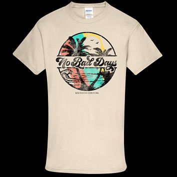 Southern Couture Soft Collection No Bad Days Beach front print T-Shirt