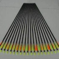 """12-PK 30"""" Golden Power Fiberglass Practice/hunting Arrows W/changeable Point for Compound Bow"""