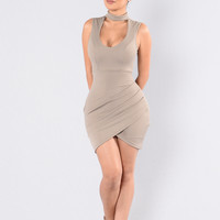 Silky Passion Dress - Mocha