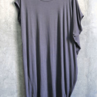 Bring out all your accessories to play with the Inspiration Asymmetrical Jersey Dress. This ultra soft asymmetrical shape dress features round neck, one side short sleeve other side asymmetrical draped sleeve, loose fitting top with form fitting bottom. Pa