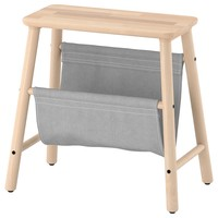 VILTO Storage stool - birch - IKEA