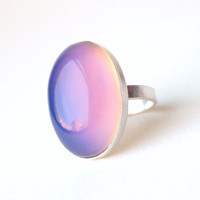 Large Oval Sterling Mood Ring