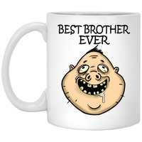 Best Brother Ever Funny Gift White Mugs