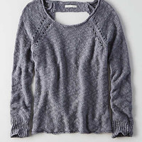 AEO Ladder Back Sweater, Blue