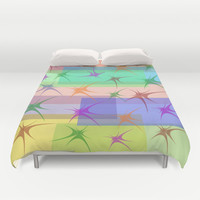 COLORFUL STARS Duvet Cover by Robleedesigns