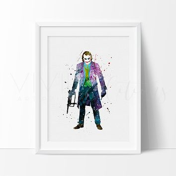 The Joker Watercolor Art Print