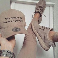 DCCKSU9 Fashion 'Adidas' Yeezy Boost Solid color Leisure Sports shoes
