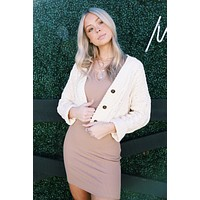 Cayden Chenille Cable Knit Cardigan, Ivory