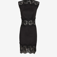 LOVER VEE VEE SLEEVELESS LACE FITTED DRESS