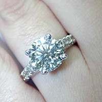 4.77ct Round Diamond Engagement Ring 900,000 GIA certified JEWELFORME BLUE