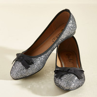 Fave the Day Flat in Silver   Mod Retro Vintage Flats   ModCloth.com