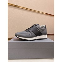Prada men's Casual Running Sport Shoes Sneakers Leather Shoes 07085