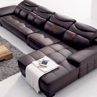 Modern Italy Leather Sectional  Corner Furniture
