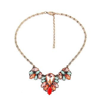 Pink Champagne Statement Necklace