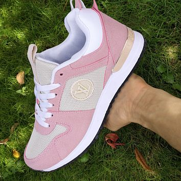 Inseva LV Shoes Louis Vuitton Sneakers Classic Trending Sports Flat Classic Shoes Pink