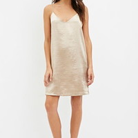 Contemporary Metallic Cami Shift Dress