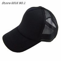 Cozy Unisex Attractive Casual Men Women Summer Hat Solid Baseball Cap Trucker Mesh Blank Visor Hats Adjustable