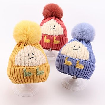 Autumn And Winter Baby Hat Scarf Set Cute Super Cute Boys And Girls Fashion Western Baby Children's Wool Hat