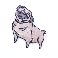 Pug Iron-On Patch