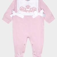 Young Versace Iconic Baroque Playsuit for New Born | US Online Store