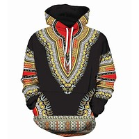 2018 new large size 3D Hoodie Dashiki African Cotton men women Hoodies Sweatshirts 3d hoodie Sweatshirt for moletom feminino
