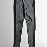 Forever 21 Faux Leather Mixed Media Moto Skinny Pants XS
