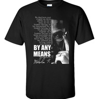 Malcolm X T-Shirt Black Panther History Black Lives Matter Martin Luther King By Any Means